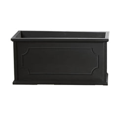 Hampshire Poly Window Box Large in Black - Soothing Company