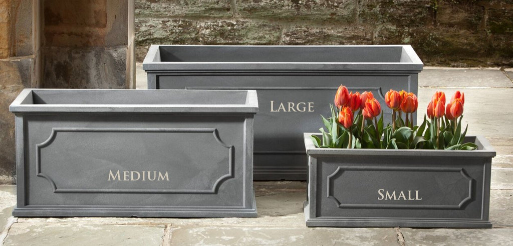 Hampshire Poly Window Box Large in Lead - Soothing Company