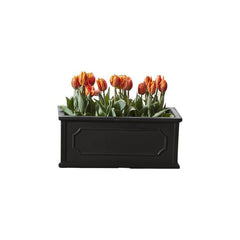 Hampshire Poly Window Box Small in Black - Soothing Company