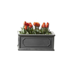 Hampshire Poly Window Box Small in Lead - Soothing Company