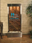 Harmony River Floor Fountain with Logo - Rear Mounted - Soothing Company