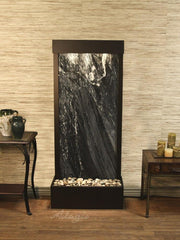 Harmony River (Flush Mounted Towards Rear Of The Base) - Black Spider Marble - Antique Bronze - Soothing Company