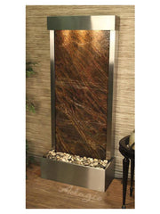 Harmony River (Flush Mounted Towards Rear Of The Base) - Rainforest Brown Marble - Stainless Steel - Soothing Company