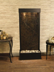 Harmony River (Flush Mounted Towards Rear Of The Base) - Rainforest Green Marble - Antique Bronze - Soothing Company