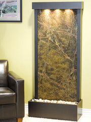 Harmony River (Flush Mounted Towards Rear Of The Base) - Rainforest Green Marble - Blackened Copper - Soothing Company