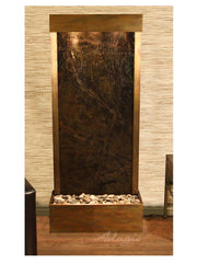 Harmony River (Flush Mounted Towards Rear Of The Base) - Rainforest Green Marble - Rustic Copper  - Soothing Company
