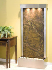 Harmony River (Flush Mounted Towards Rear Of The Base) - Rainforest Green Marble - Stainless Steel - Soothing Company