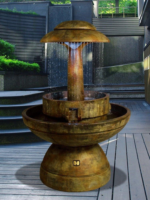 Ring of Diamonds Outdoor Water Fountain - Soothing Company