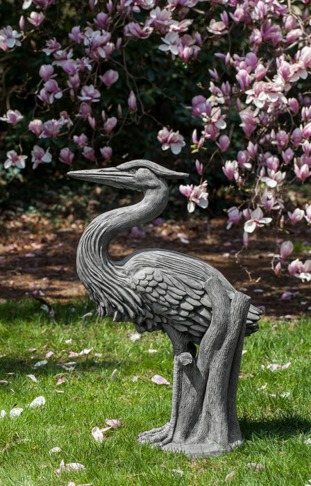 Heron Cast Stone Garden Statue - Soothing Company