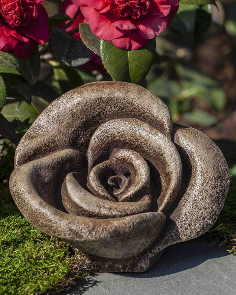 Hershey Rustic Rose Cast Stone Garden Statue - Soothing Company