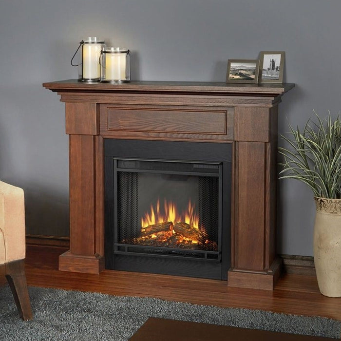 Hillcrest Electric Fireplace in Chestnut Oak - Soothing Company