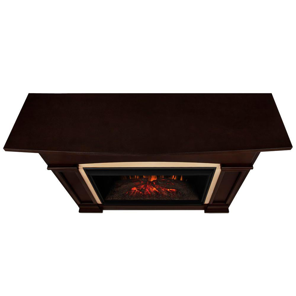 Holbrook Grand Electric Fireplace in Dark Walnut - Soothing Company