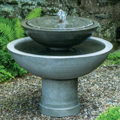 Hydrangea Leaves Two Tier Fountain - Soothing Company