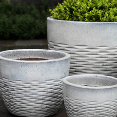 Hyphen Planter - Set of 4 in Snow - Soothing Company