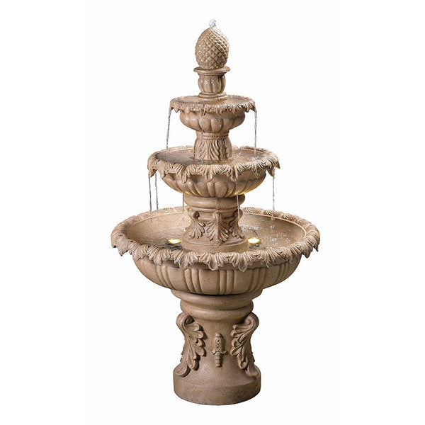 Ibiza Outdoor Fountain in Sandstone finish - Soothing Company
