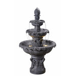 Ibiza Outdoor Fountain in Zinc finish - Soothing Company