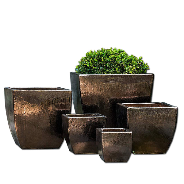 Ilona Planter Set of 5 in Bronze Dore Glaze - Soothing Company
