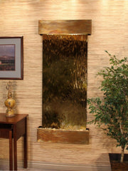 Inspiration Falls: Bronze Mirror and Rustic Copper Trim with Squared Corners - Soothing Company