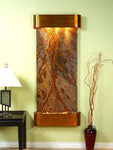 Inspiration Falls: Rainforest Brown Marble and Rustic Copper Trim with Rounded Corners - Soothing Company