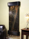 Inspiration Falls: Rainforest Green Marble and Blackened Copper Trim with Rounded Corners