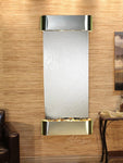 Inspiration Falls: Silver Mirror and Stainless Steel Trim with Rounded Corners