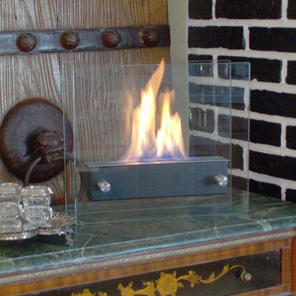 Irradia Noir Tabletop Ethanol Fireplace - Soothing Company