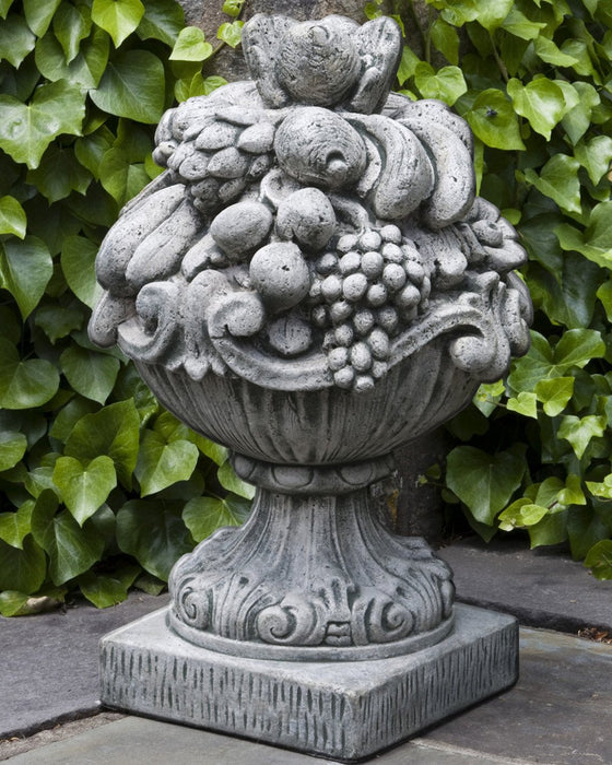 Italian Fruit Basket Cast Stone Garden Statue - Soothing Company