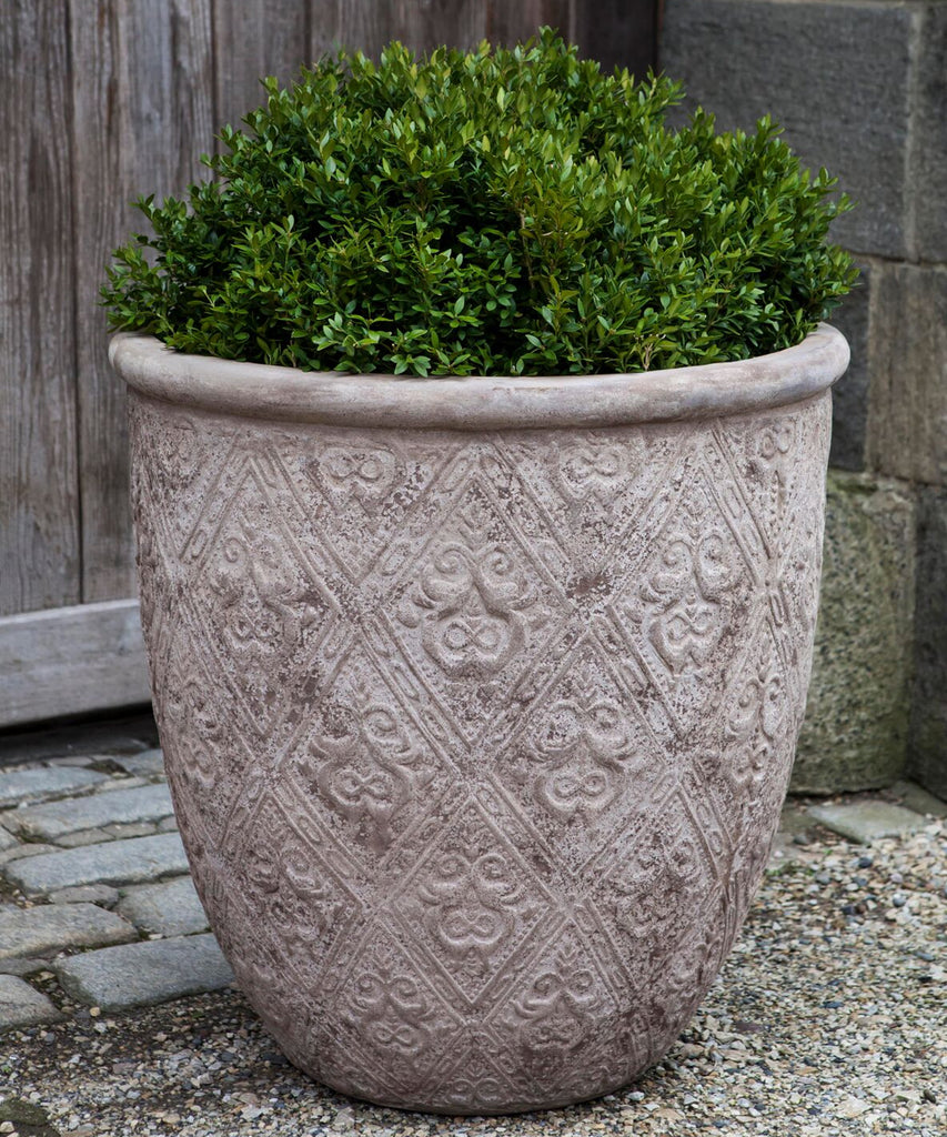 Jacquard Planter - Set of 3 in Antico Terra Cotta - Soothing Company
