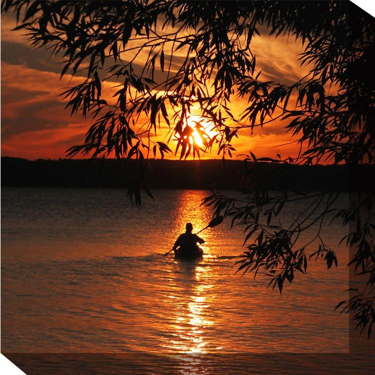 Kayak Sunset Canvas Art