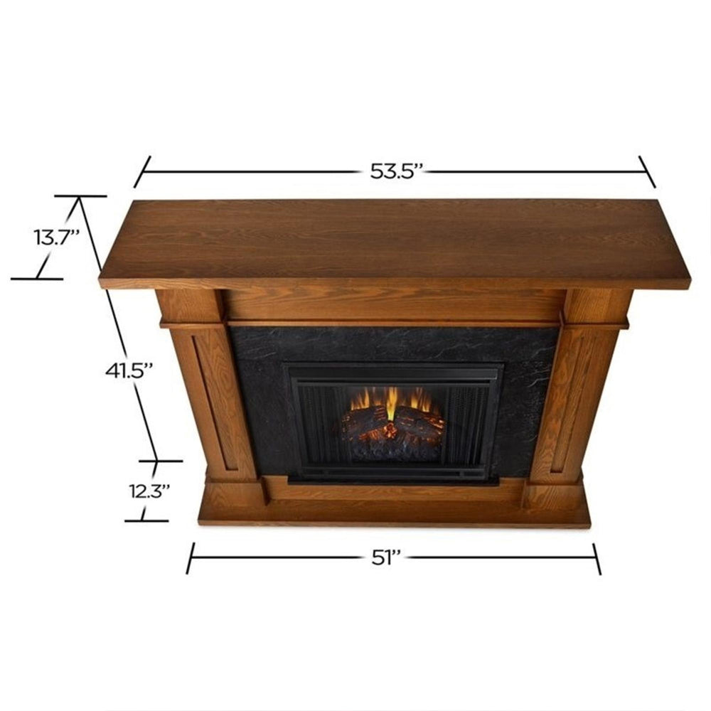 Kipling Electric Fireplace in Burnished Oak - Soothing Company