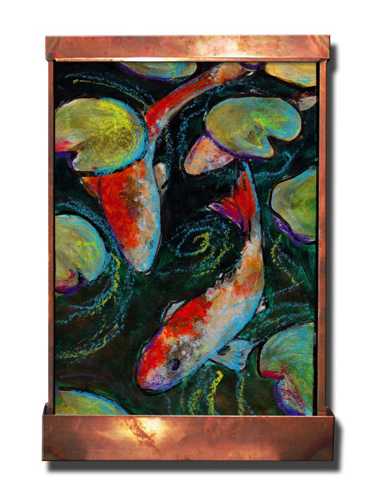 Koi on Black Wall Fountain - Soothing Company