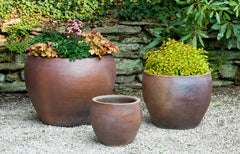 Kon Tum Planter - Set of 3 in Asian Earthenware - Soothing Company
