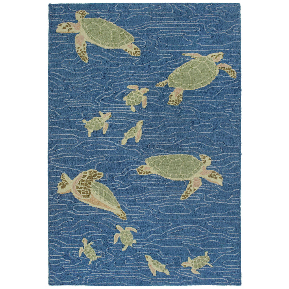Liora Manne Lalunita Seaturtles Water Indoor Rug - Soothing Company