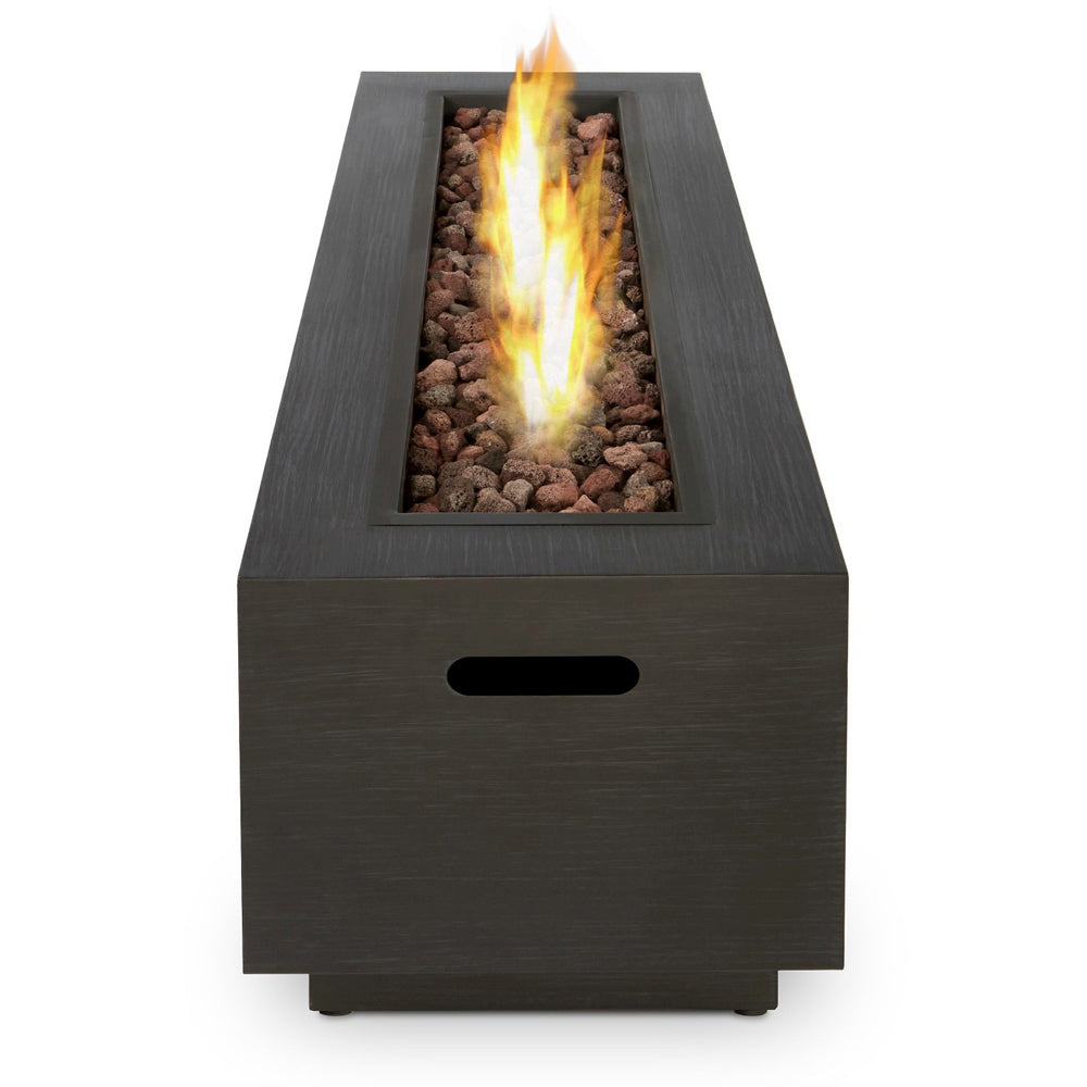Lanesboro Rectangle Propane Fire Table in Gray with NG Conversion Kit - Soothing Company