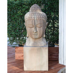 Large Buddha Head Garden Statue - Soothing Company