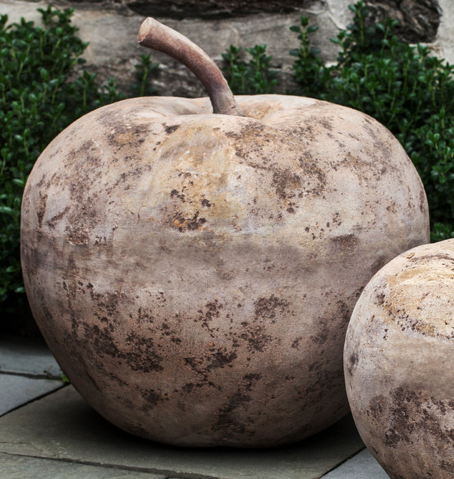 Large Rustic Apple Statue in Antico Terra Cotta -Soothing Company