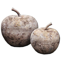 Small Rustic Apple Statue in Antico Terra Cotta - Soothing Company
