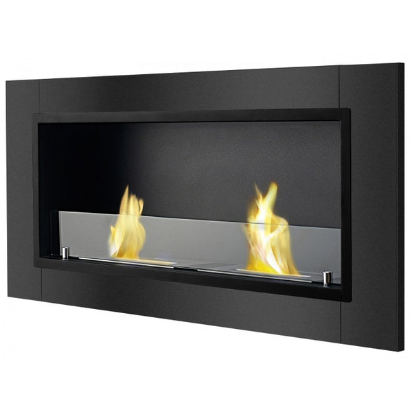 Ignis Lata Black Recessed Bio Ethanol Fireplace - Soothing Company