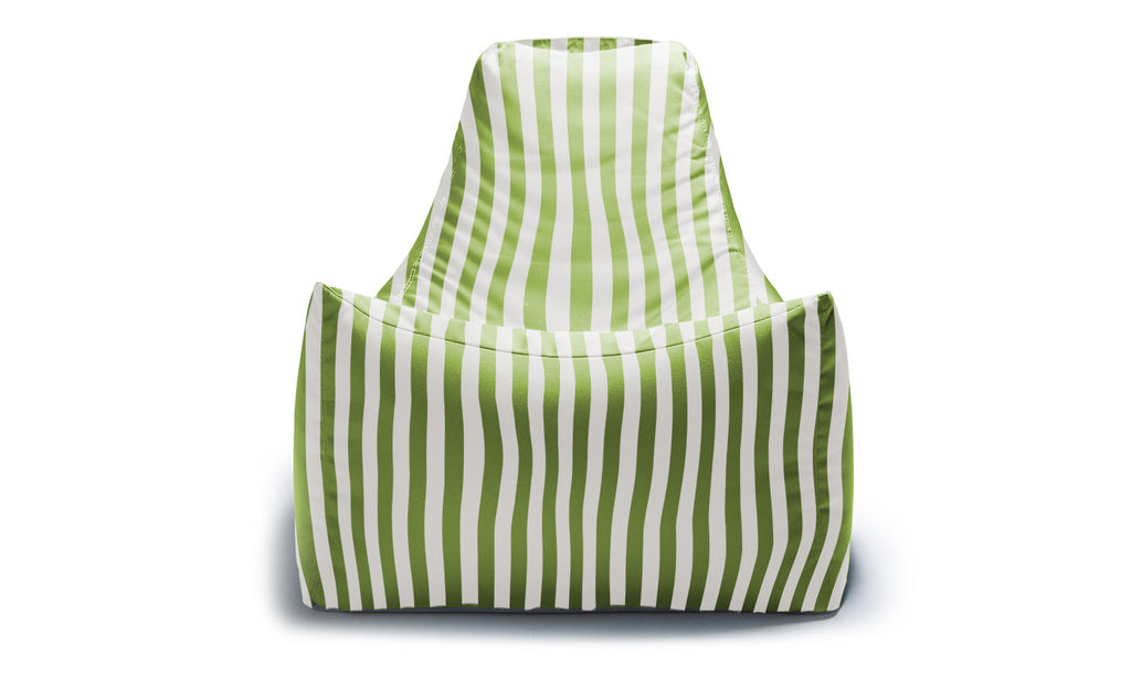 Juniper Outdoor Bean Bag Chair Lime Stripe - Soothing Company