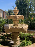 Lion Outdoor Water Fountain with 55 inch Basin