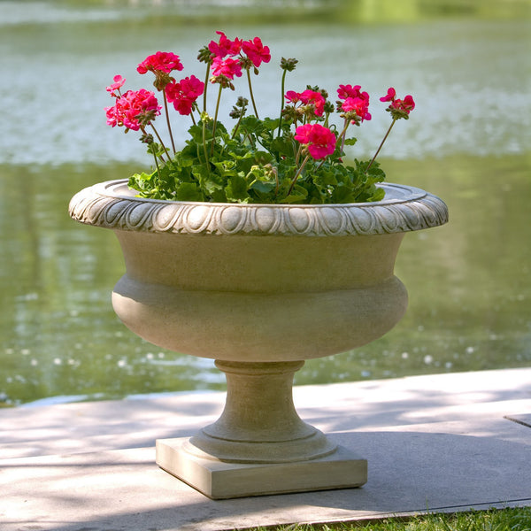 Longwood Egg & Dart Urn Garden Planter - Soothing Company