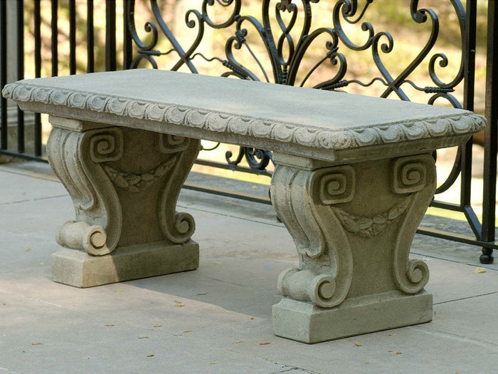 Longwood Main Fountain Stone Bench