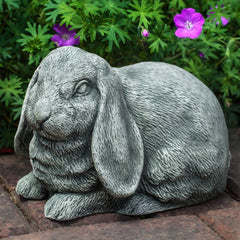 Lop-Eared Bunny Cast Stone Garden Statue - Soothing Company