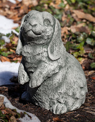 Lop-Eared Standing Bunny Garden Statue - Soothing Company