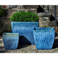 Lorimar Planter Set of 3 in Blue Pearl - Soothing Company