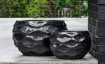 Low Rumba Planter - Set of 2 in Ice Black - Soothing Company