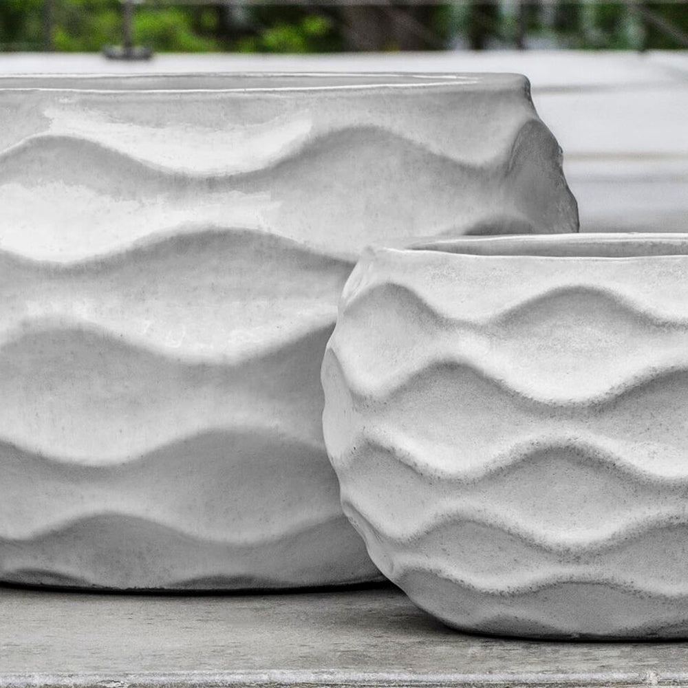 Low Rumba Planter - Set of 2 in Snow - Soothing Company