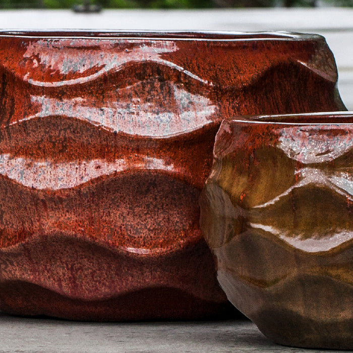 Low Rumba Planter - Set of 2 in Sunset Red - Soothing Company