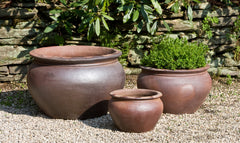 Luan Planter - Set of 3 in Asian Earthenware - Soothing Company