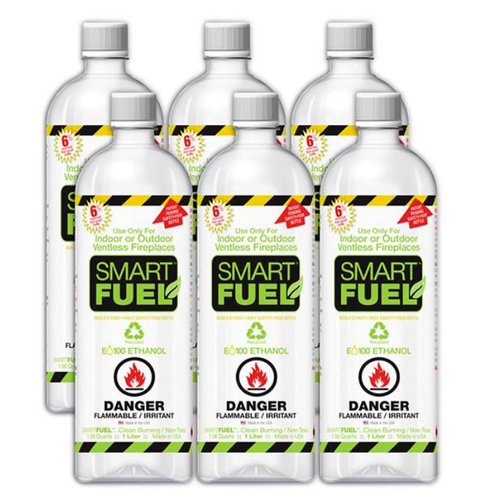 Lumina Smart Ethanol Fuel - 6 x 1 Liter Pack